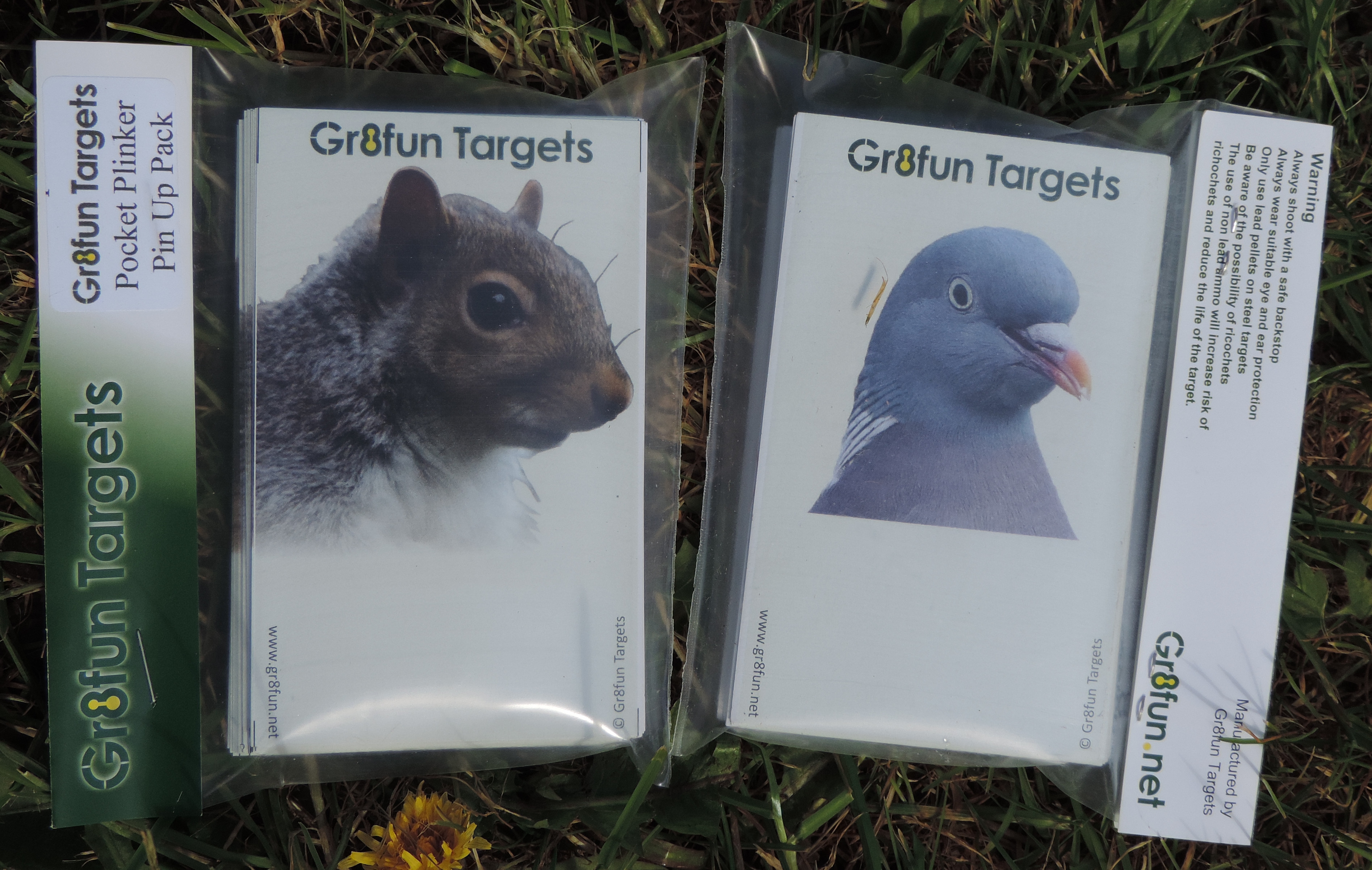 Pocket Plinkers Pin up Pack-Woodpigeon and Squirrel -100 targets