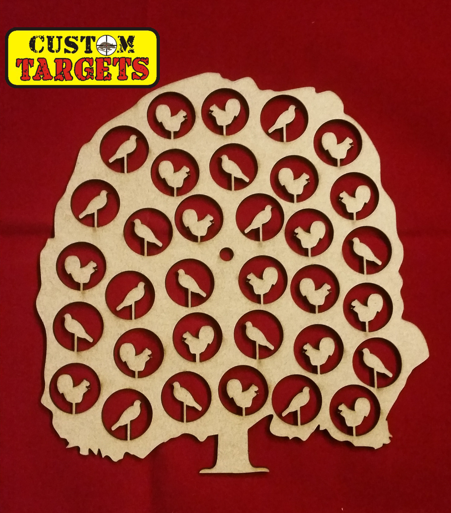 Custom Targets - Critter Tree - Shoot Out Airgun Target-33 zones