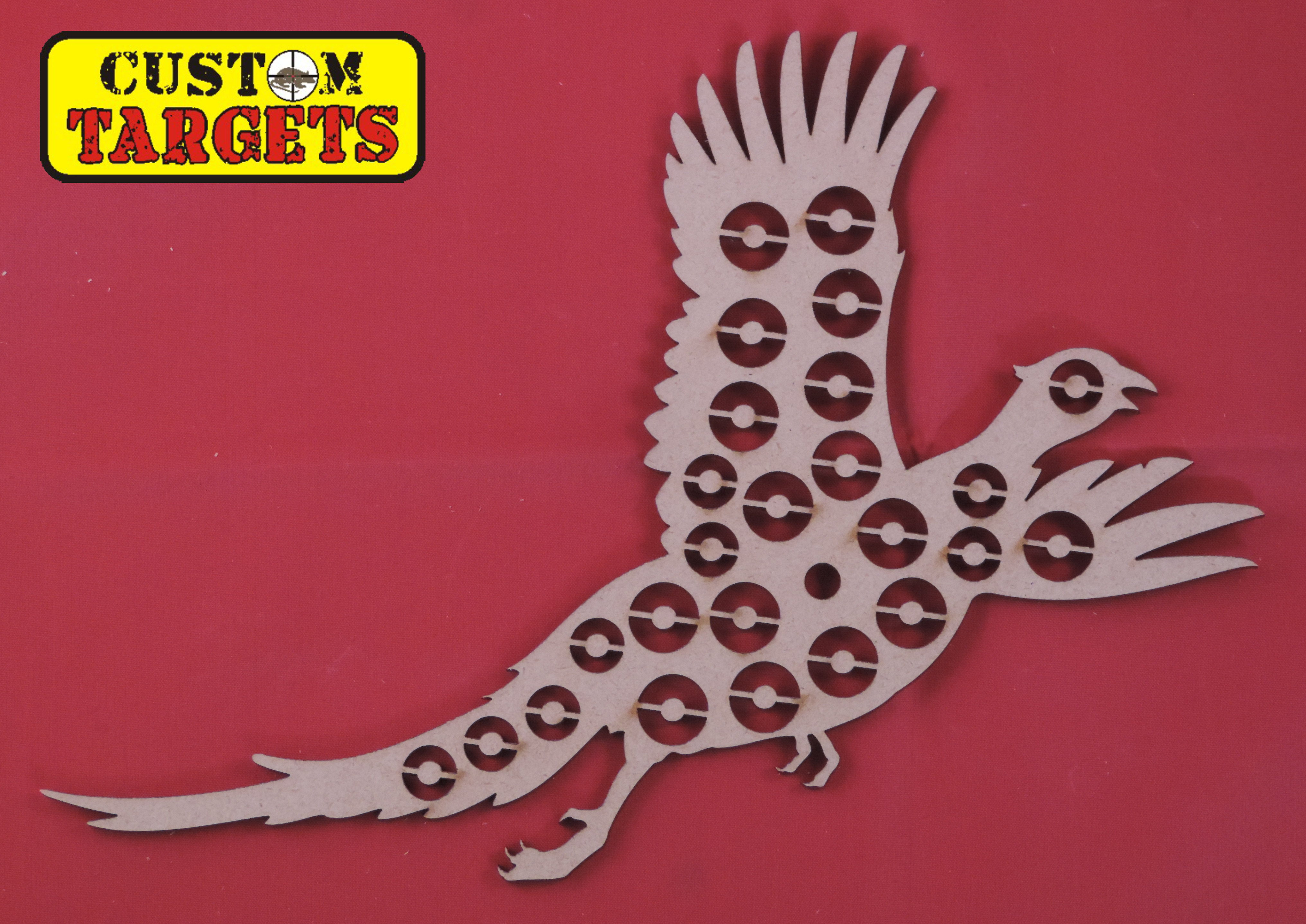 Custom Targets - Pheasant Shoot Out Airgun Target - 25 zones