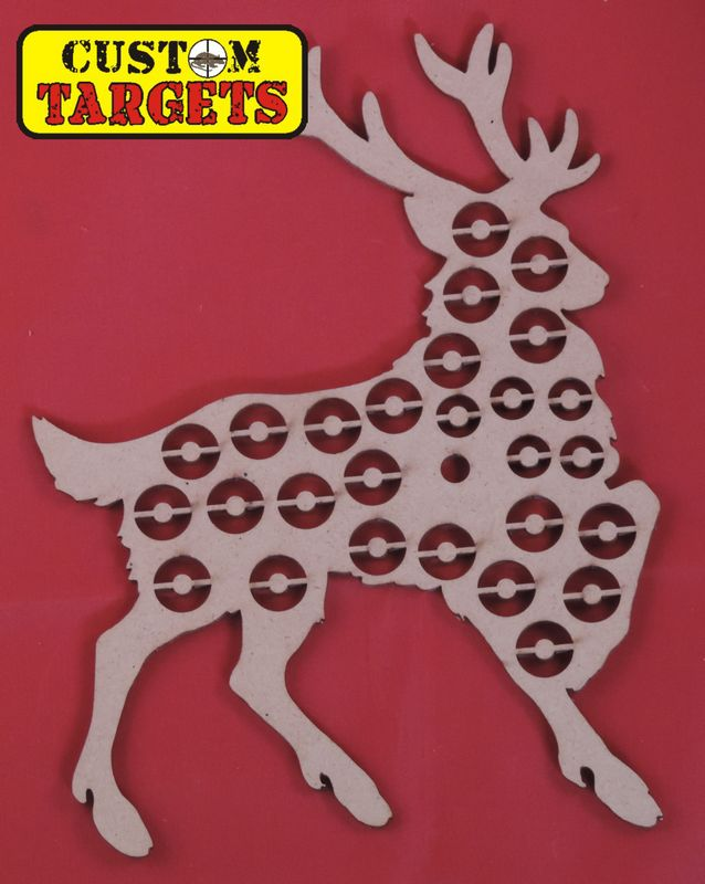 Custom Targets - Stag Shoot Out Airgun Target - 26 zones
