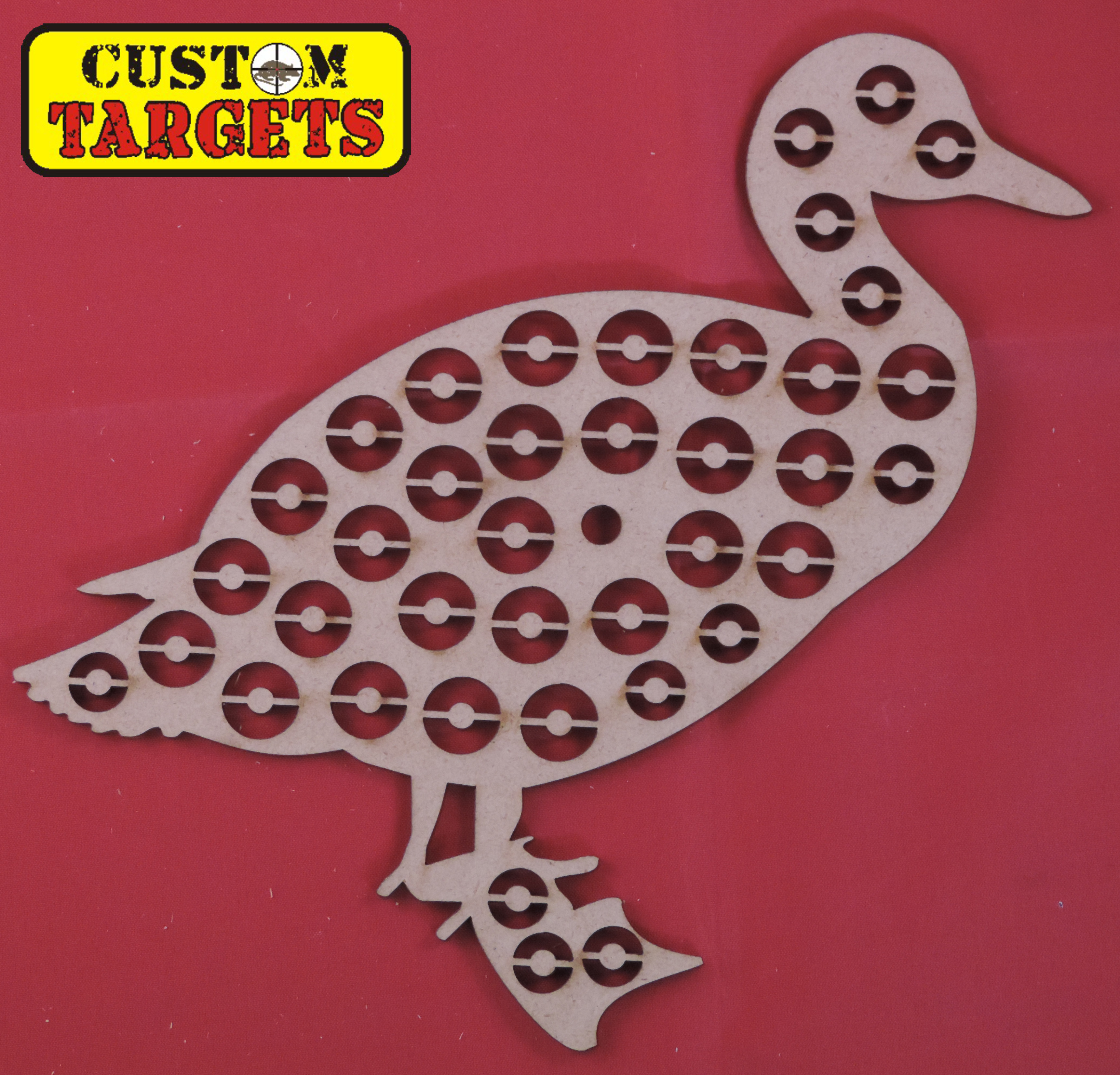 Custom Targets - Duck Shoot Out Airgun Target - 39 zones