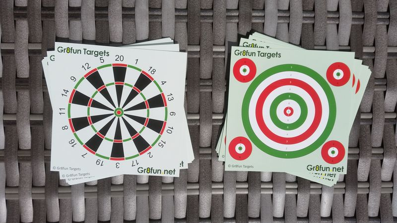14cm Dartboard and Practice airgun and pistol targets - 100 pack