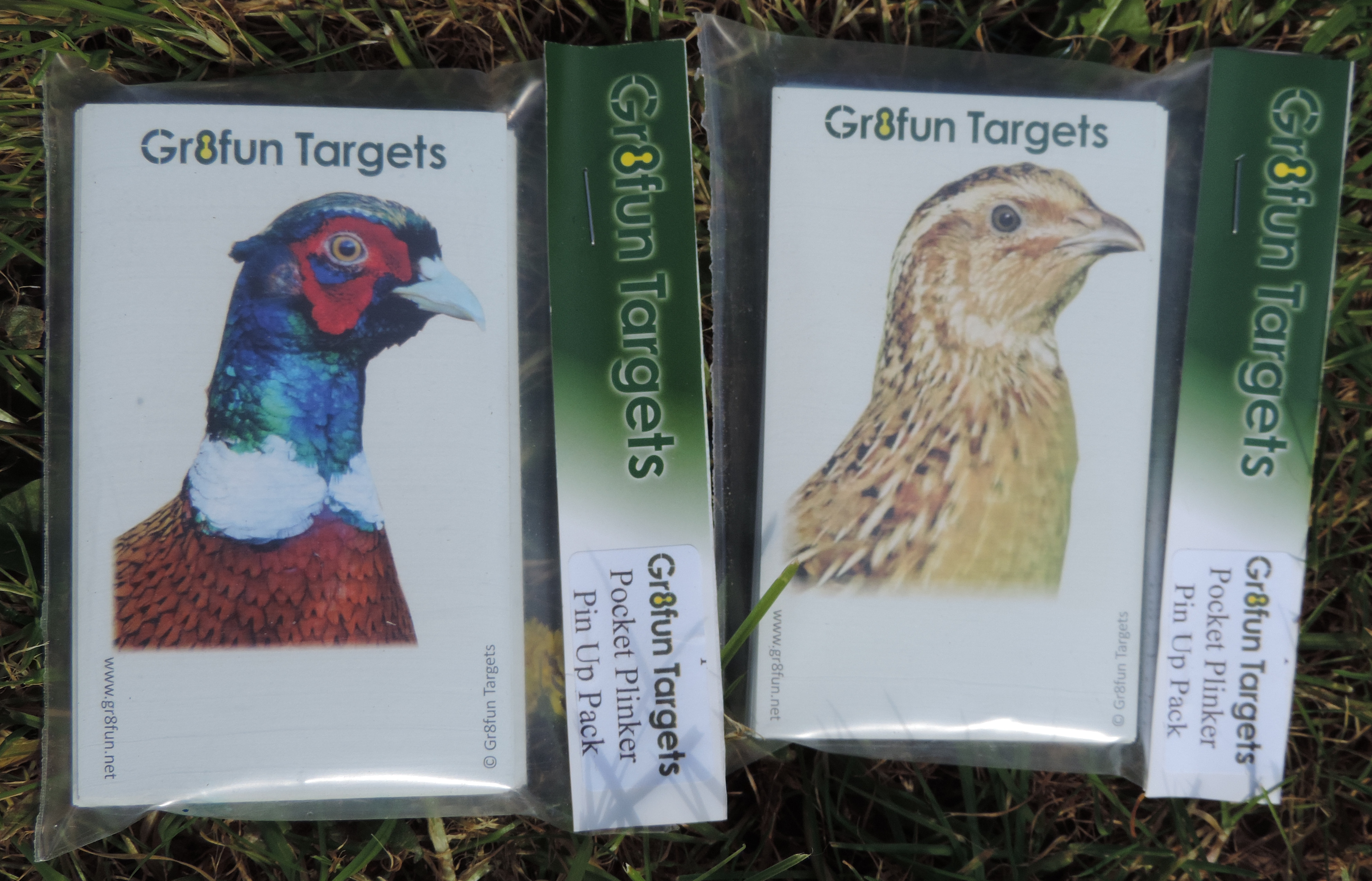 Pocket Plinkers Pin Up Pack - Pheasant and Grouse - 100 targets