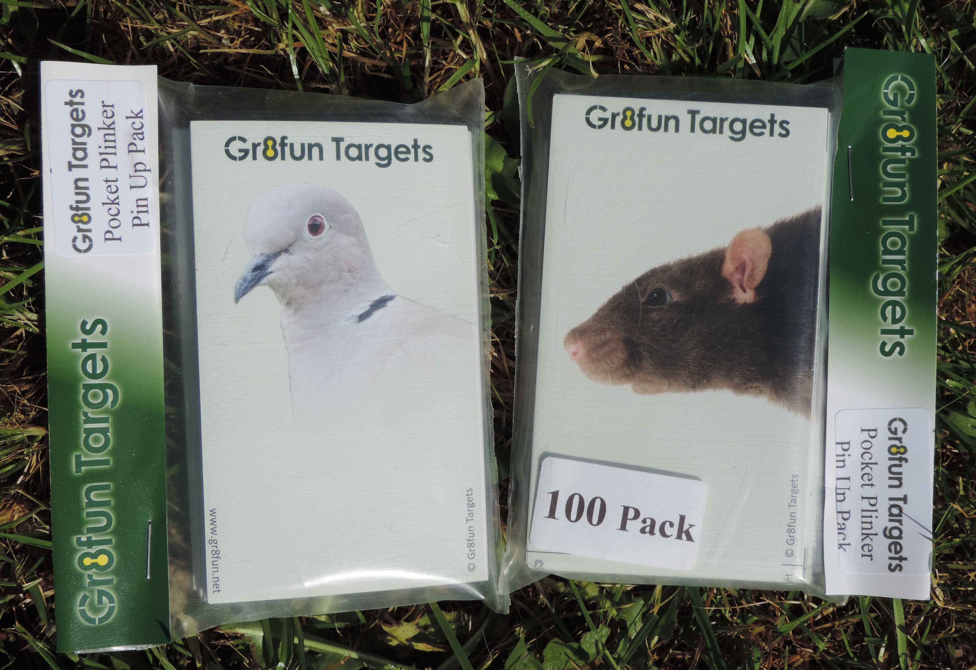 Pocket Plinkers Pin Up Pack- Rat And Collared Dove - 100 targets